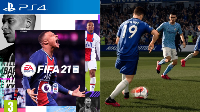 FIFA 21 cover and game play footage