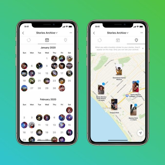Instagram Stories Map and Stories Calendar