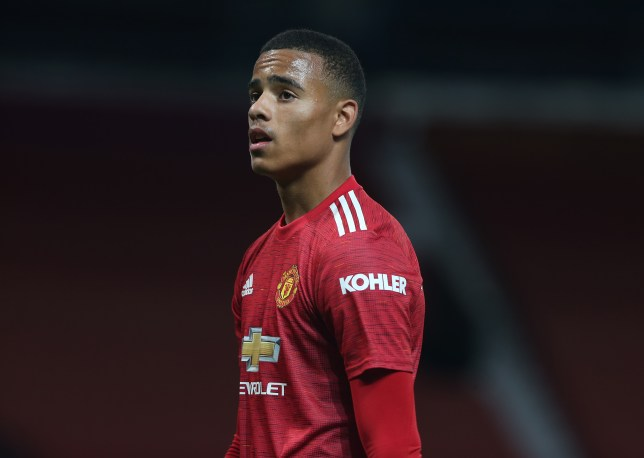 Mason Greenwood looks on during Manchester United's Premier League clash with Crystal Palace