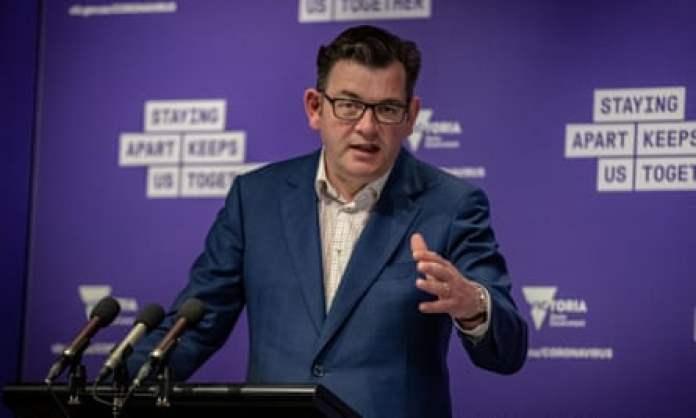 Victorian premier Daniel Andrews speaks to the media