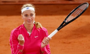 Petra Kvitova has reached the French Open quarter-finals for the first time in eight years.