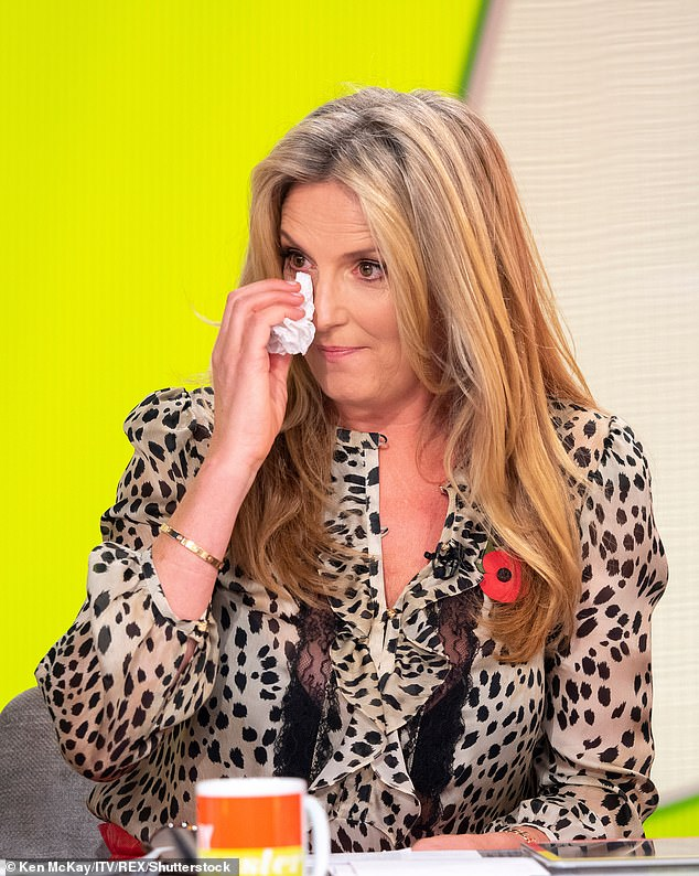 Drama! Penny Lancaster has revealed how she had a 'panic attack-type meltdown' during lockdown, thanks to her menopause, which saw a chicken pie thrown across the kitchen [pictured 2018]