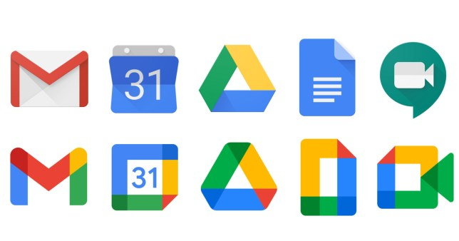 Google's old app icons alongside the new ones (Google)