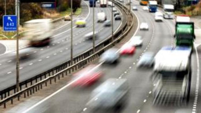 File photo dated 26/10/09 of traffic on a motorway