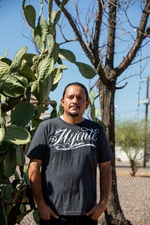 Carlos Garcia, a Phoenix city councilmember, in south Phoenix, Arizona, 14 October 2020.