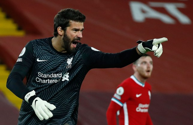 Alisson Becker has been ruled out for up to six weeks by Liverpool manager Jurgen Klopp
