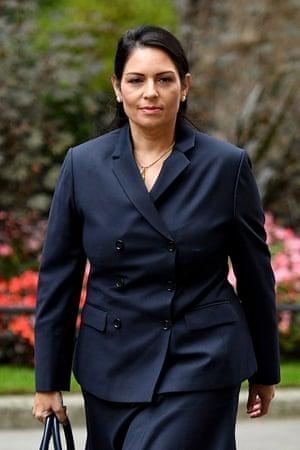The home secretary, Priti Patel