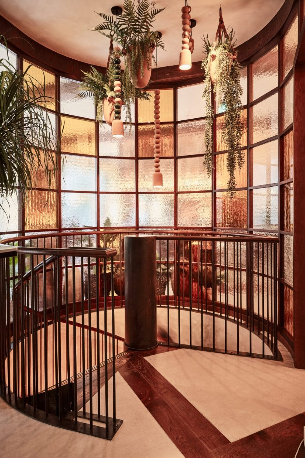 Kol restaurant in London includes spiral staircase