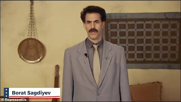Wait a second...:Sacha Baron Cohen appeared fully clothed in costume as his character Borat