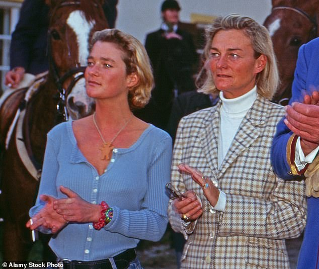 Delphine (left, with her mother in 2000) first claimed to be Albert's lovechild in 1999, after an unofficial biography of the Queen claimed he had an affair and a child born out of wedlock