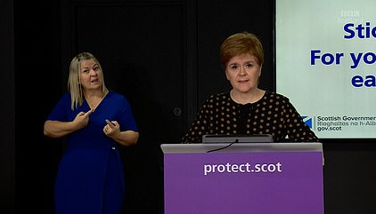 Ms Sturgeon, the Scottish First Minister, said today that she had 'no plans' to alter the 14-day period, with her top medic suggesting there was currently no evidence to support it.