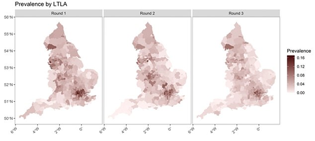 Prevalence remained highest in London, at 9.5 per cent compared with 1.6 per cent in the South West of England