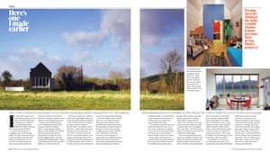 Inspiration … Irish architect Dominic Stevens' self-built house, featured in the Guardian's Weekend magazine in 2012.