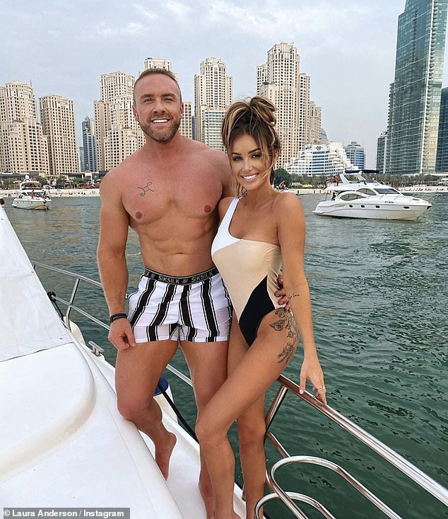 Love lost: Last time Laura was in Dubai she was holidaying alongside ex-boyfriend Tom Brazier