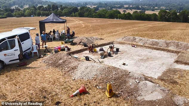 The dig, in a field near Marlow, was carried out with permission of the land owner.The region of the mid-Thames between London and Oxford was previously thought to be a 'borderland', with strong groups on each side