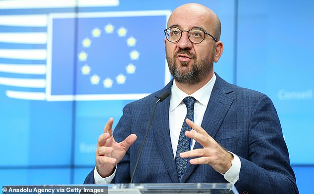 Two weeks ago, EU Council president Charles Michel (pictured) was forced to postpone a summit of EU leaders because he was quarantining