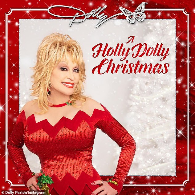 Christmas spirit: Dolly's interview followed the release on Friday of her most recent album A Holly Dolly Christmas, which is her 47th studio release and third Christmas album