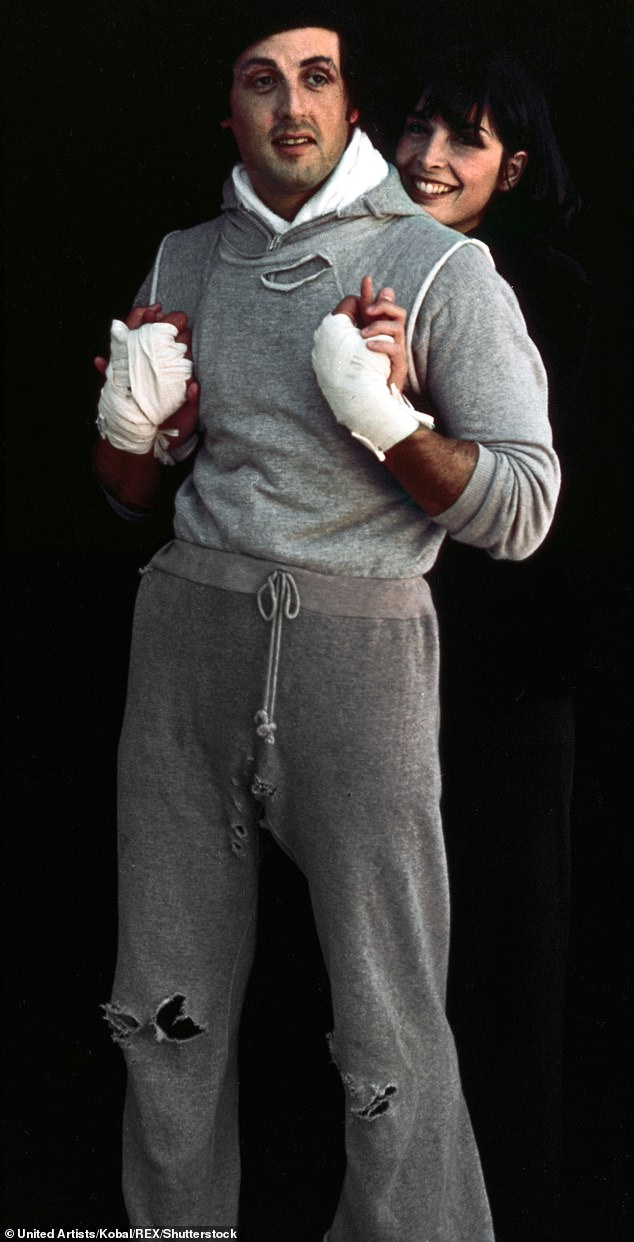 Rocky vibes:Given the beach setting and the boxing vibe, Bieber may be paying homage to the famous beach training scenes between Rocky Balboa (Sylvester Stallone) and Apollo Creed (Carl Wathers) in the 1982 classic Rocky III, while rocking a similar sweatsuit to Balboa in 1979's Rocky II