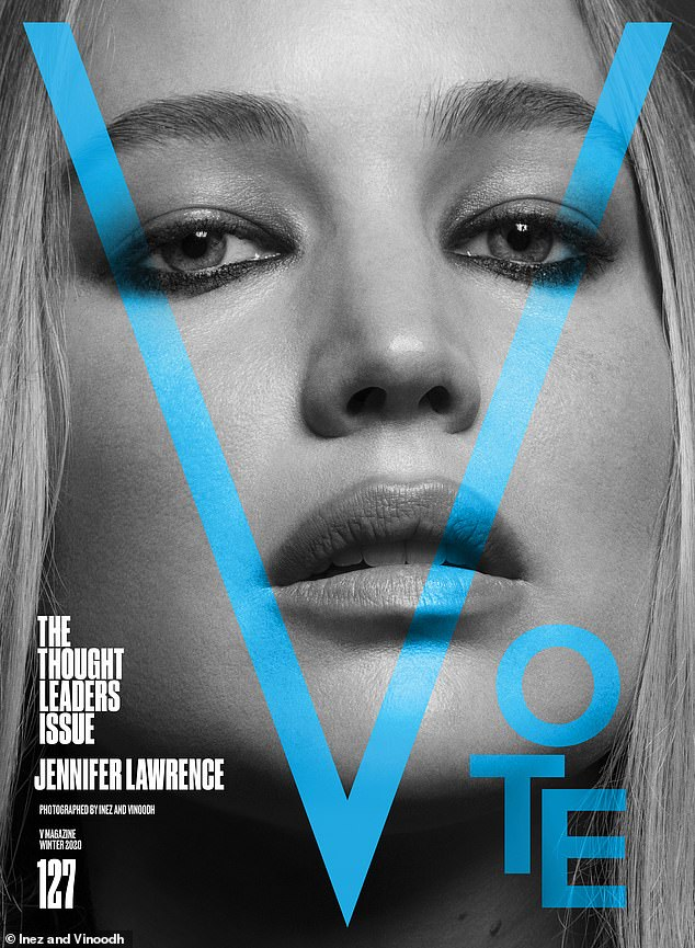 Focused:Jennifer Lawrence urged readers to stay in the fight no matter how overwhelming things can be, saying: 'The bad news can feel overwhelming at times, but the most important thing is to stay focused on the ways we can all be part of the solution'