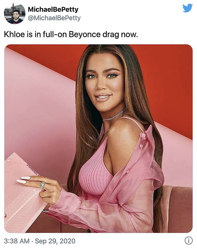 Khloe is that you? One of the promotional snaps for Khloe's new gig drew comparisons to Beyonce