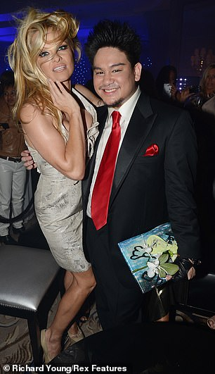 Prince Azim with Pamela Anderson