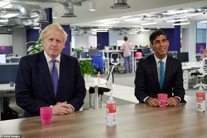 Boris Johnson visited Octopus energy's HQ in London with Rishi today amid swirling rumours of splits