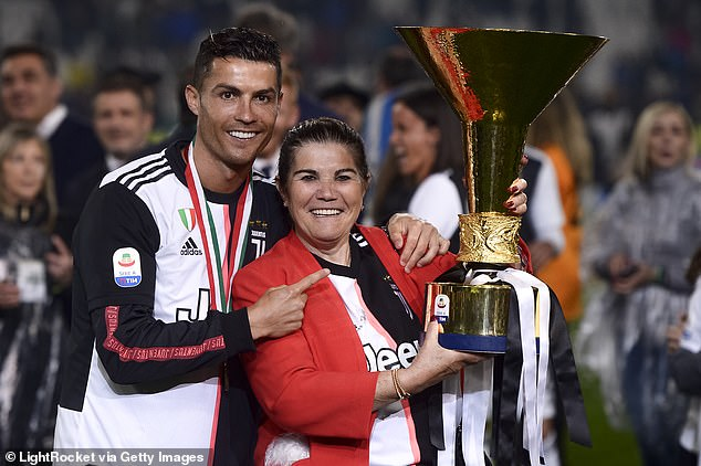 Ronaldo's mother Dolores Aveiro (pictured right), who was rushed to hospital on March 3 after suffering a stroke, lives in Ronaldo's Madeira home along with his brother Hugo