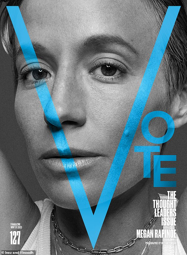 Our roles: Megan Rapinoe said: 'I believe voting is a part of a deep responsibility each of us have to make this country better'
