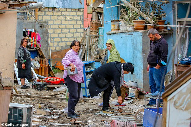 Shelling from the most recent flare-up has damaged buildings and killed civilians in the region. More than 300 people are reported to have been killed though the real number of deaths is thought to be higher