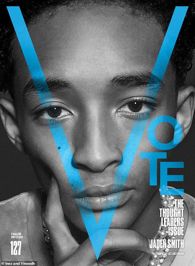 Leadership lacking:Jaden Smith made his dissatisfaction with the current regime heard, telling the magazine: 'I¿m voting because I haven¿t been happy with the leadership'
