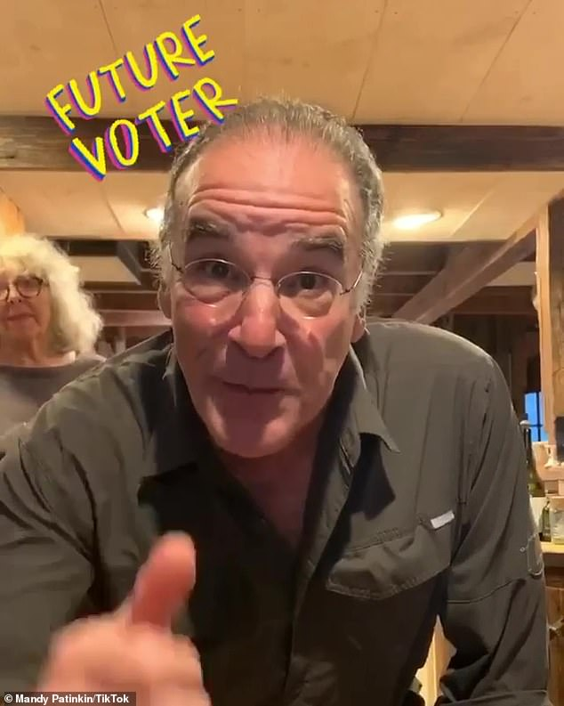 Showing his support: The Princess Bride actor specifically joined TikTok in order to get out the vote for presidential candidate Joe Biden and his running mate Kamala Harris
