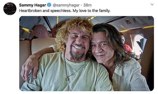 Bandmates:Van Halen's Sammy Hagar said he was 'heartbroken and speechless'
