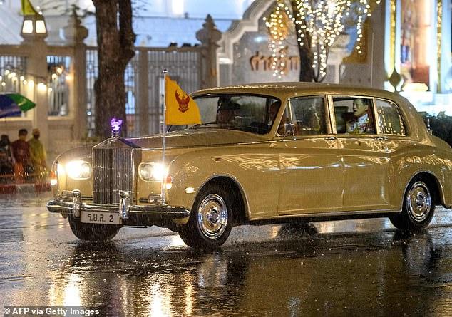 KingMaha Vajiralongkorn is driven away from the grand palace in Bangkok last week