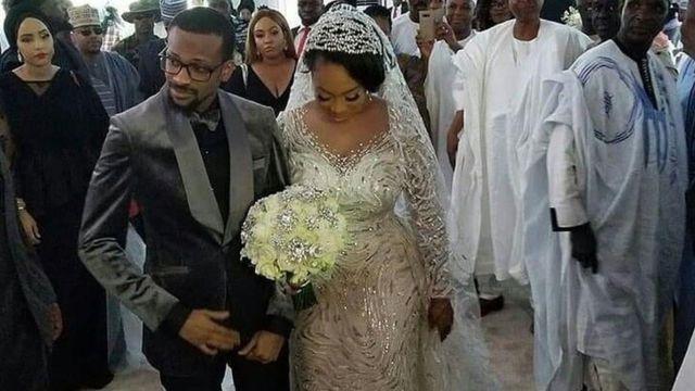 Fatima Ganduje and Idris Ajimobi during dia wedding for 2018
