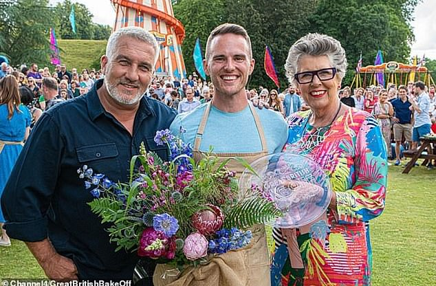 Champ:Yorkshireman David was crowned the winner of Bake Off 2019 last October, beating favourite Steph Blackwell in a surprise result