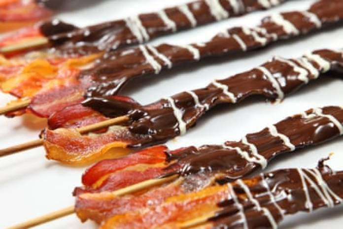 Bacon dipped in chocolate