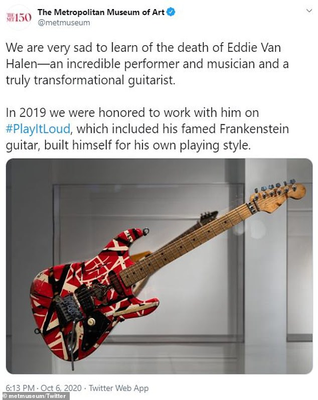 Other locations nationwide paid tribute to the late guitar legend