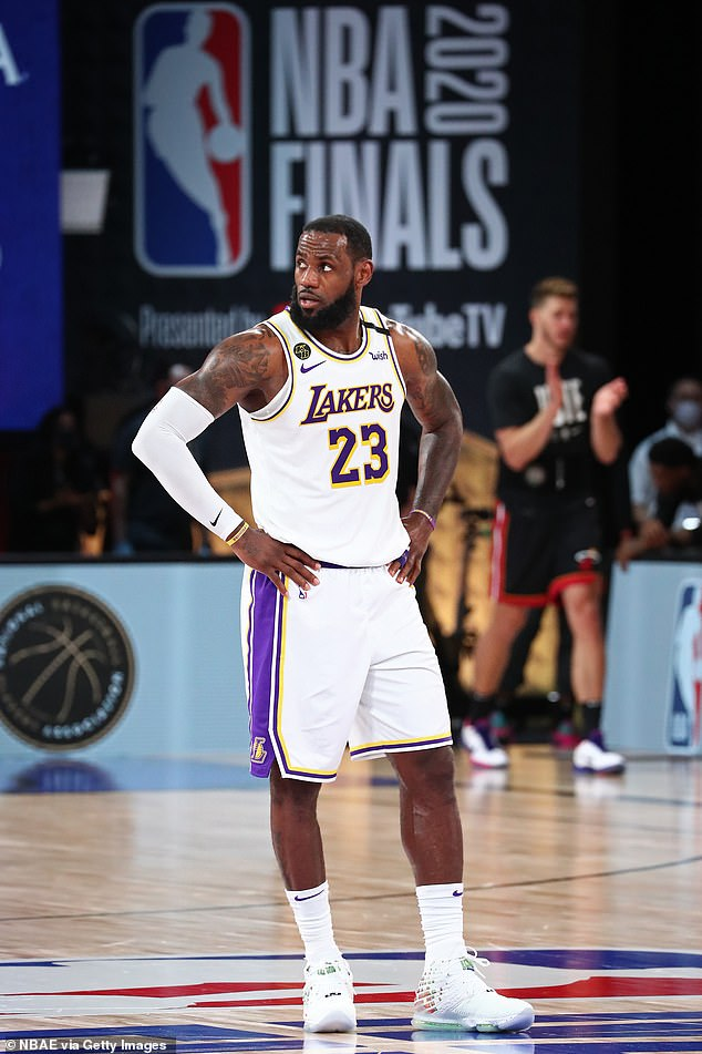 GOAT:LeBron has led the Los Angeles Lakers to a 2-1 series lead in the NBA Finals against his former team, Miami Heat, in the last series that will be in the NBA bubble in Orlando