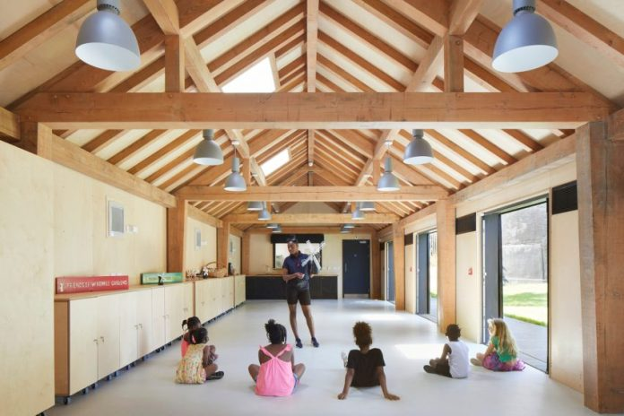 Timber framed community centre