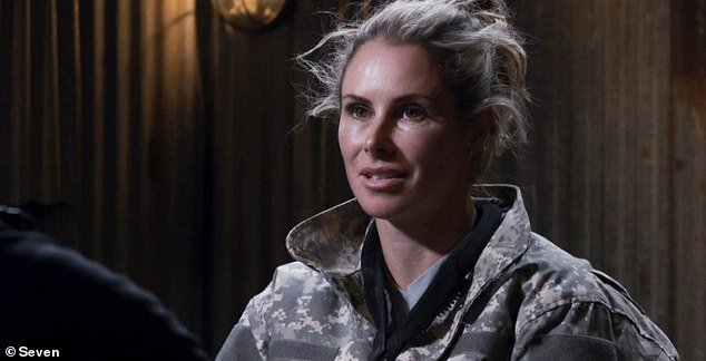 'I've never really spoken about my feelings': Candice added that there was a certain sense of 'relief' over discussing her past on the military-style show