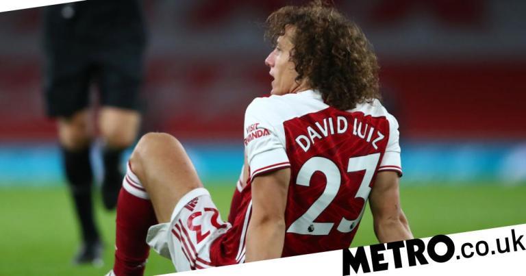 Arsenal boss Mikel Arteta reacts to David Luiz and Bukayo Saka injuries