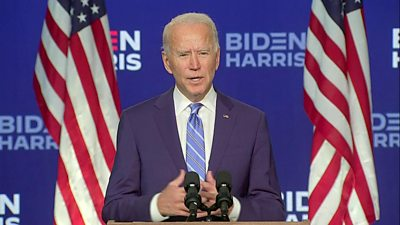 Biden urges Americans to come together after election