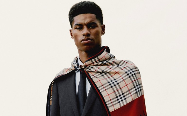 Burberry links with footballer Marcus Rashford for youth support initiatives