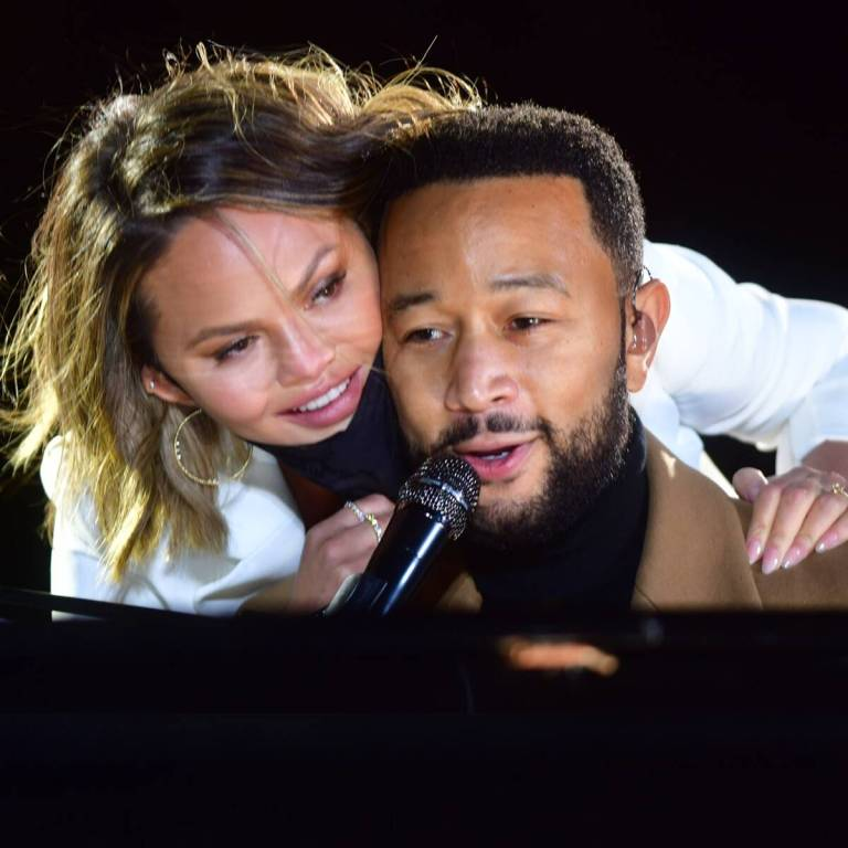 Chrissy Teigen and John Legend Share Heartwarming Moment With Kids Luna and Miles at Philadelphia Rally
