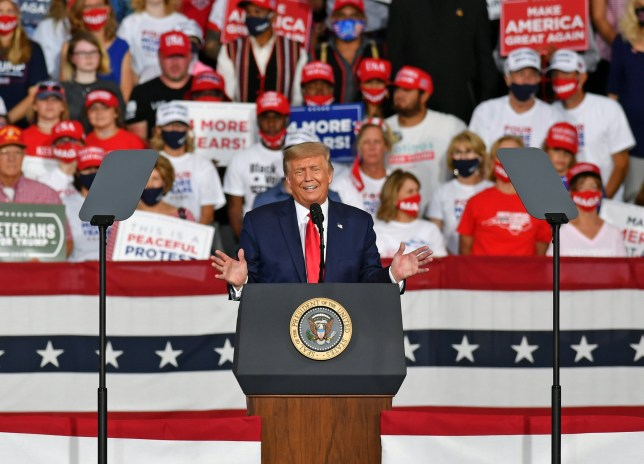President Trump at a campaign rally