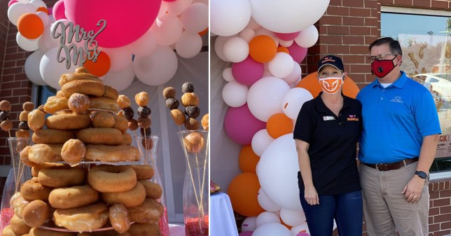 couple who met at Dunkin Donuts get married there