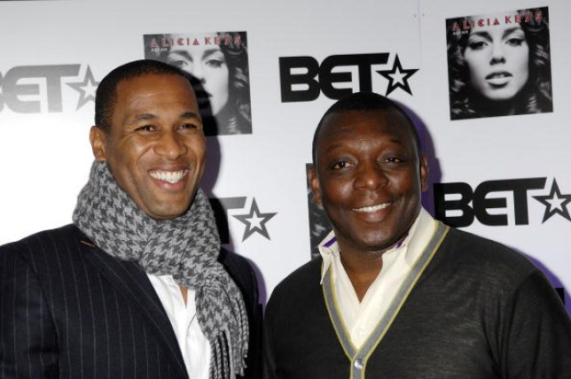 Les Ferdinand and Garth Crooks attend the Black Entertainment Television launch party at the Cafe de Paris on March 1, 2008 in London, England.