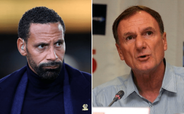 Liverpool legend Phil Thompson and Manchester United hero Rio Ferdinand look on