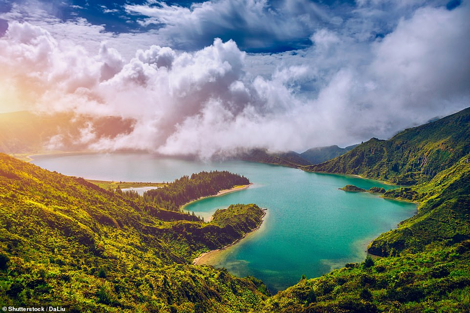 50. THE AZORES: Located in the mid-Atlantic, this archipelago is 'one of the dreamiest places on the planet', says Big 7 Travel, which adds it is 'peppered with cosy fishing villages, vibrant turquoise lakes and endless hydrangea fields'