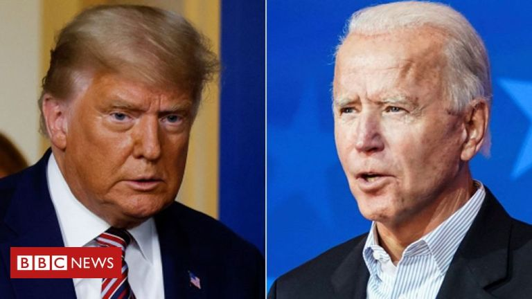 US Election 2020: Trump alleges 'shenanigans' as Biden urges calm